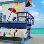Спасательная станция на пляже в Майами Бич